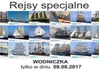 """Pożegnania wypływających żaglowców – rejs specjalny """"WODNICZKA"""""""